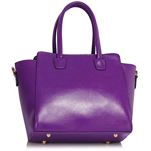 LeahWard® Femme Grete Taille Celeb Style Sacs Fourre-Tout Élégance Femme Sac Betoulière Sacs À Main 456 Violet