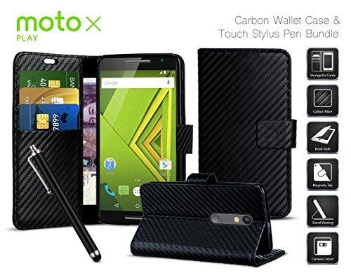 motorola-droid-maxx-2verizon-2015-efecto-de-fibra-de-carbono-folio-ranura-para-tarjeta-y-funcion-atr