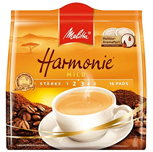 Melitta Pads Cafe Harmonie 16 Stück pro Pack, 5er Pack (5 x 112 g Packung)
