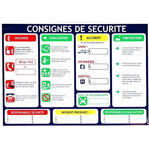 Consigne de sécurité obligatoire format A4