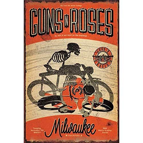 Wise Degree Rock Band Stickers Roses Metall Poster Wand Küche Kunst Cafe Garage Shop Bar Dekoration (Pins Zum Verkauf)