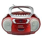 BLAUPUNKT B 11 RD tragbares CD-Radio mit Kassettenplayer (LED-Display, Backlight, 2X 1 Watt, UKW/MW-Tuner) Rot