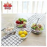 #9: BMS Lifestyle BGB-04 Borosilicate Glass Mixing Bowl Set, 4-Pieces, Transparent