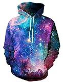 Goodstoworld Bunt 3D Druck Hoodie Galaxy Kapuzenpullover Herren Damen Langarm Pullover Sweatshirt Kapuze Gedruckte Top Jungen