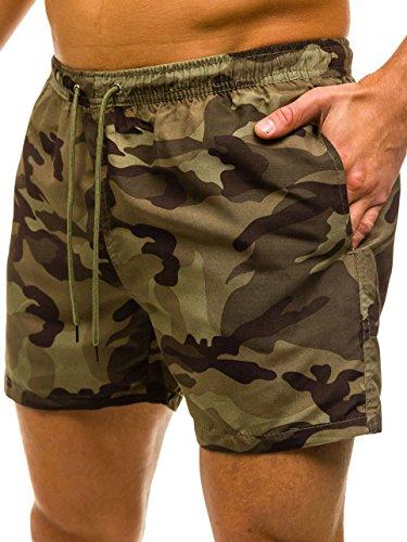 BOLF Herren Shorts Schwimmhose Badehose Badeshorts Military Camo ILSOLE Z512 Grün