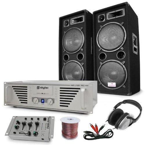 Set Dj 'N.Y. Fireblade' amplificatore, microfono casse 2000W