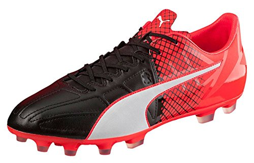 Puma Evospeed 1.5 Lth Ag, Chaussures de Football Compétition Homme black-white-red blast