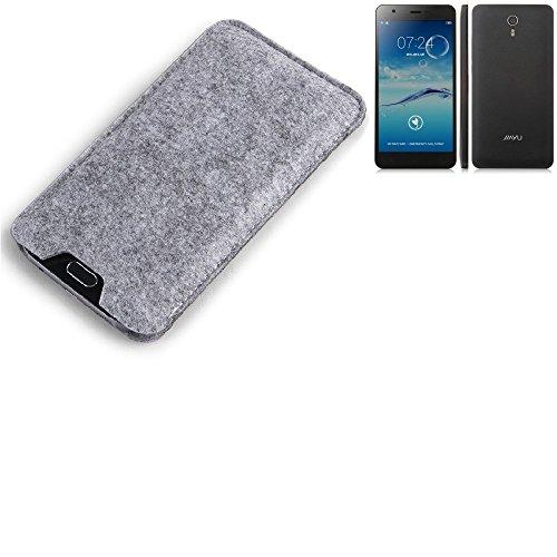K-S-Trade Filz Schutz Hülle für Jiayu S3 Advanced Schutzhülle Filztasche Filz Tasche Case Sleeve Handyhülle Filzhülle grau