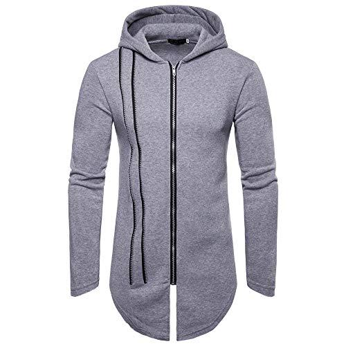 Manadlian Herren Herbst Winter Lange Ärmel Reißverschluss Spleißen Hoodies Sweatshirt Trainingsanzüge