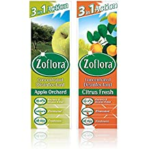 Zoflora Concentrated Disinfectant, Apple Orchard & Citrus Fresh (8 x 250ml)