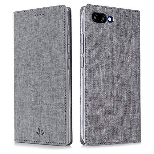 Eastcoo Kompatibel Huawei Honor 10 Hülle Flip Folio Wallet Leder Case Tasche Schutzhülle Handyhülle mit [Standfunktion][Magnetic Closure] für Huawei Honor 10 Smartphone(Honor 10,Gray) -