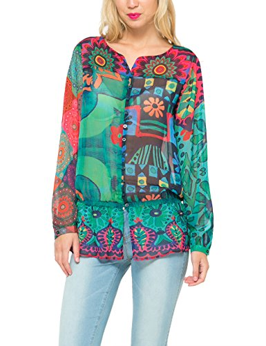 Desigual, MAGIC MULTI - Camicia para donna, color navy, talla X-Small