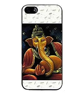 ifasho Designer Back Case Cover for Apple iPhone 5S (Ganesh Wuhan Spiritual Wall Hanging Satara)