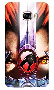 Omnam Eyes With Leopard Effect Printed Designer Back Cover Case For Samsung Galaxy C7