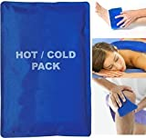 #9: Iktu Duo Hot Cold Gel - Soft Touch Compress For Therapy, Pain Relief, First Aid - Reusable Microwaveable Hot and Cold Bag - Non Toxic CMC Gel (Random Colors)