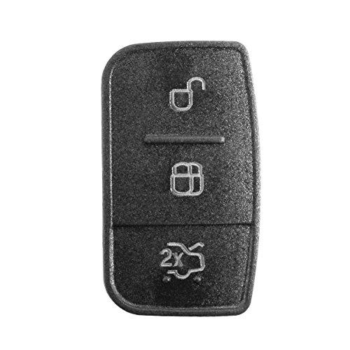Goma 3teclas Repuesto mando a distancia carcasa llave negro Ford Focus Fiesta Kuga Ka Mondeo Fusion S-Max C-Max chiavit rodillos concha llaves Coche Logo carcasa membrana botones
