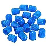 DDG EDMMS - Tapones de plástico Coloridos para válvula de neumático de Coche, Moto, camión, Bicicleta y Bicicleta (50 Unidades), Color Azul