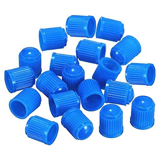 Ruiting - Tappi antipolvere per valvole di pneumatici di auto, moto, autocarri e bicicletta, in plastica, colorati, confezione da 50