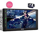 EinCar Android 5.1.1 7'' Capacitive Touch Screen GPS Car Stereo with Double Din Navigation Vehicle Audio AM FM Radio System Support Bluetooth/WiFi/1080P/Mirrorlink+Backup Camera