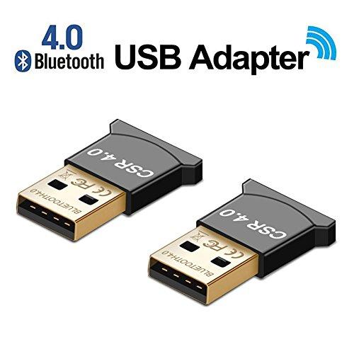 YOOKII 2x Mini USB NANO Bluetooth CSR 4.0 Plug & Play High Speed Dual Mode Adapter Dongle Stick für PC, Kopfhörer, Laptop, Tastatur, Maus, Drucker, Windows 10 fähig