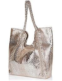 Neeshi Women's Tote Bag Silver (J-C)