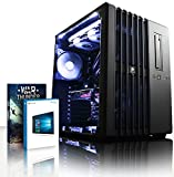 Vibox Titan 18 Gaming PC con Gioco War Thunder, 4.4GHz Intel i7 Quad Core Processore, nVidia GeForce GTX 980 Scheda Grafica, 3TB HDD, 32GB RAM, Case Corsair 540 Air, Nero