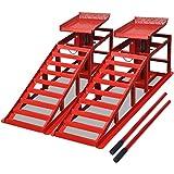 vidaXL Set 2 pz Rampe per sollevamento auto officina in acciaio altezza 37,5 cm 2t