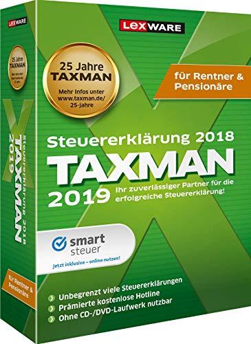 Lexware Taxman 2019 für das Steuerjahr 2018|Minibox|Übersichtliche Steuererklärungs-Software für Rentner und Pensionäre
