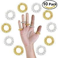 Pixnor Massage-Ringe für Akupressur, Fingermassage, 10 Stück preisvergleich bei billige-tabletten.eu