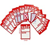 200X Small 'Sale was/Now' Pricing Tags Hanger Label Sale Cards Free P&P