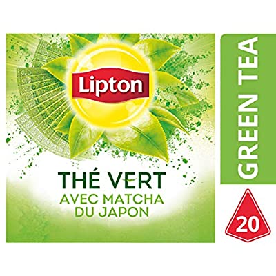 Lipton Thé Vert Matcha Label Rainforest Alliance, 20 Sachets