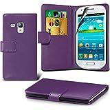 ( Purple ) Samsung i8190 S3 Mini Ledergeldbörse Flip Hülle Tasche Mit-Schirm-Schutz-Schutz By Spyrox