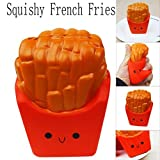 Lotus.Flower Kawaii Cartoon French Fries Squeeze Toy Cream Scented Slow Rising Stress Reliever Relaxing Gadget for Kids and Adults (A)
