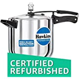 (CERTIFIED REFURBISHED) Hawkins Stainless Steel Pressure Cooker, 6 Litres, Silver