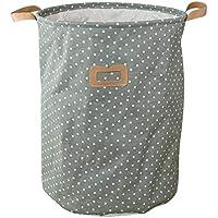 Yaoaoesn Bolsa de lavandería Plegable a Prueba de Agua Ropa Sucia Canasta de Lino Almacenamiento de