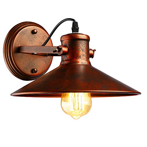 Applique Vintage Applique Industrial Regolabile in Metallo Lampade Da Parete Interno Lampade