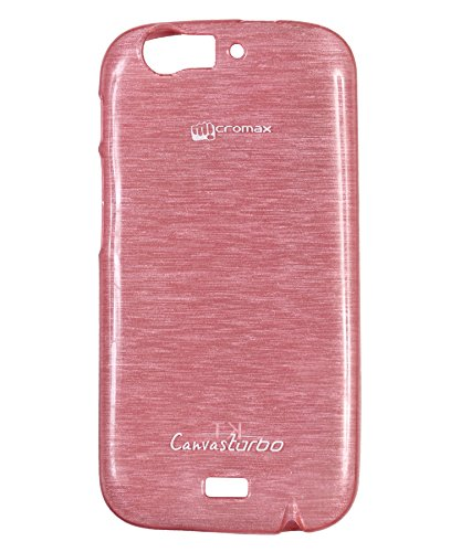 iCandy Soft TPU Shiny Back Cover For Micromax Canvas Turbo A250 - Pink  available at amazon for Rs.109