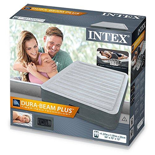 "Intex 12-67768 Luftbett Comfort-Plush MID ""Full"", 230 V inklusiv eingebauter Luftpumpe, 137 x 191 x 33 cm - 4"