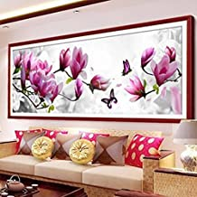DIY 5D diamante bordado mariposas jugar Magnolia redondo diamante pintura cruz puntada kits