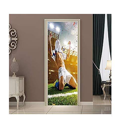 Wohnzimmer Dekoration Aufkleber Fußball Tür Aufkleber Wand Fußballer Pvc Poster Aufkleber Wandbild Dekoration Sport Kinder Dekoration