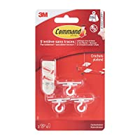 Command 17008Ceiling Hook, up to 225g, 3Hook, 4Strips