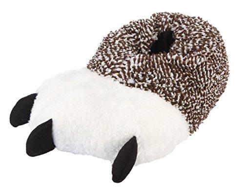 (Lukis Unisex Erwachsene Flache Hausschuhe Plüsch Pantoffeln Tier Indoor Winter Wärmeschuhe Khaki Innenlänge 27cm)