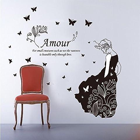 Firewall dei poster romantica camera da letto presenta creativa grande farfalla fate