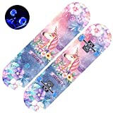 ASDFNF Skateboard, Junior Scooter À Quatre Roues Skateboard Cartoon Double Rocker Motif À Double Face en Érable Concave À Deux Faces Poulie for Flash Adaptée Aux Débutants Garçons Et Filles