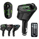 Verde trasmettitore FM Kit vivavoce per auto MP3 lettore trasmettitore FM con vivavoce per Radio