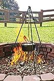 Lodge Logic Camping-Schmortopf aus Gusseisen, 4,5Liter - 4