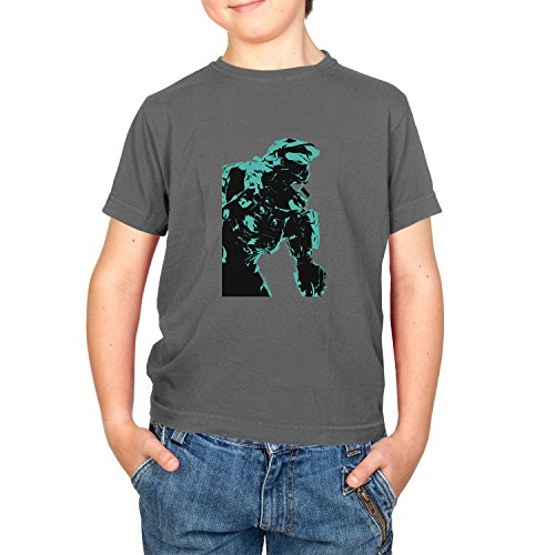 Texlab The Master - Kinder T-Shirt, Größe XS, Grau (Halo 3-masterchief)