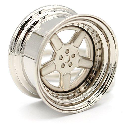 VmG-Store Tiefbettfelge Silber Matt Schlüsselanhänger Felge Metall