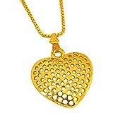 Surat Diamonds Big Heart Shaped Gold Pla...
