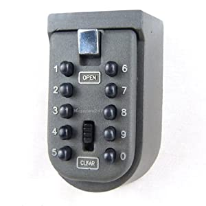 Indoor-and-Outdoor-Key-Safe-Wall-Mounted-Nurse-Key-Safe-Key-Storage-Push-Button-Combination-Lock-Wall-Mounted-Key-Safe-Box-Security-Lock-for-CarersHome-HelpNurse-Home-Access